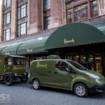 Nissan e-NV200 takes Harrods 'Back to the Future' with an electric delivery van