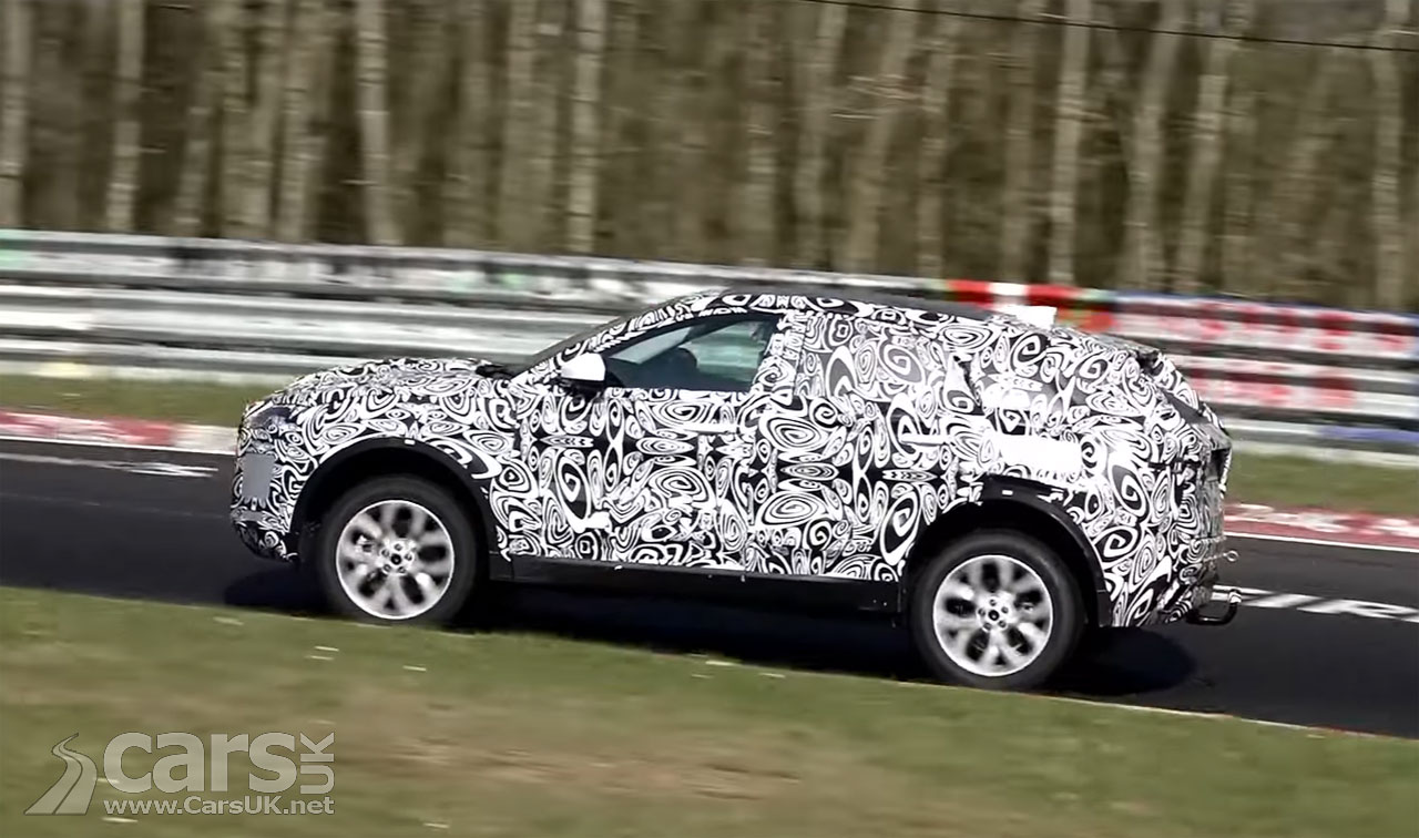 Photo Jaguar E-Pace SUV caught on video at Nurburgring