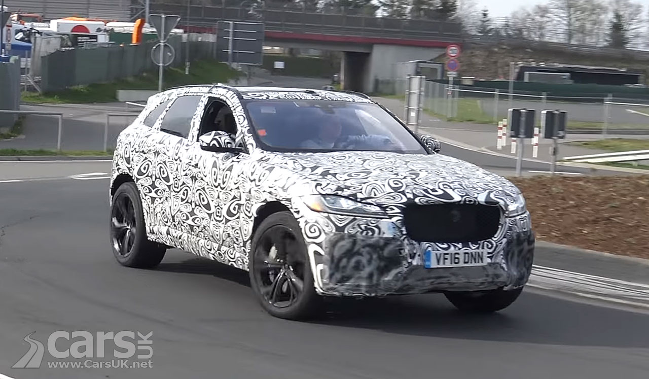 jaguar f pace svr caught on video as jaguar 39 s most powerful f pace hits the nurburgring cars uk. Black Bedroom Furniture Sets. Home Design Ideas