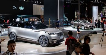 Jaguar Land Rover's future on show in Shanghai as the Range Rover Velar and Jaguar i-Pace debut