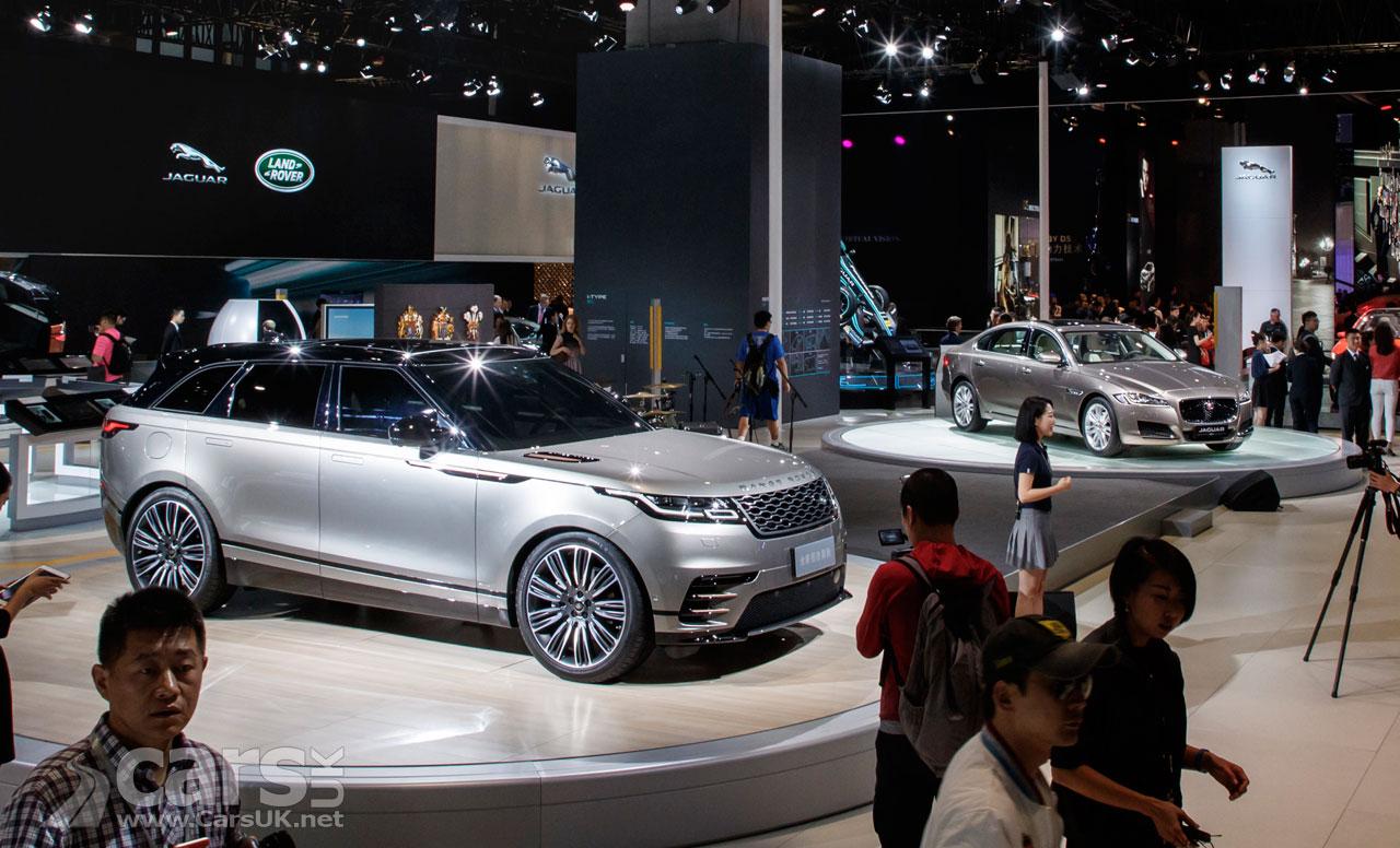 Photo Range Rover Velar and Jaguar i-Pace Shanghai