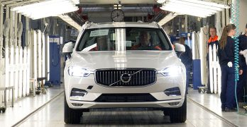 First new Volvo XC60 rolls off the line at Volvo's Torslanda plant in Sweden