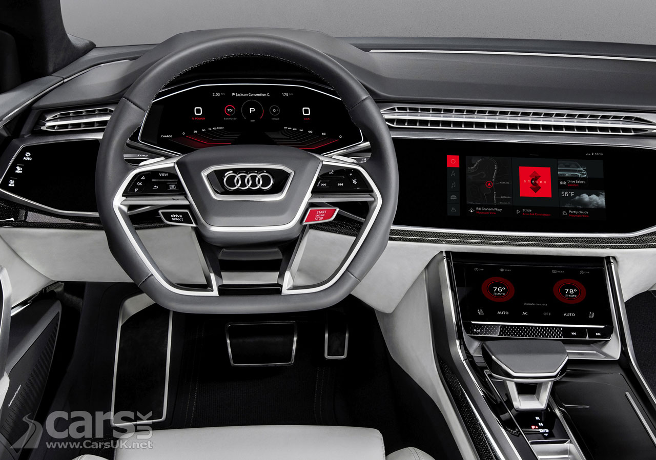 Audi Q8 Sport shows off new Android O/S as Audi join Volvo ...
