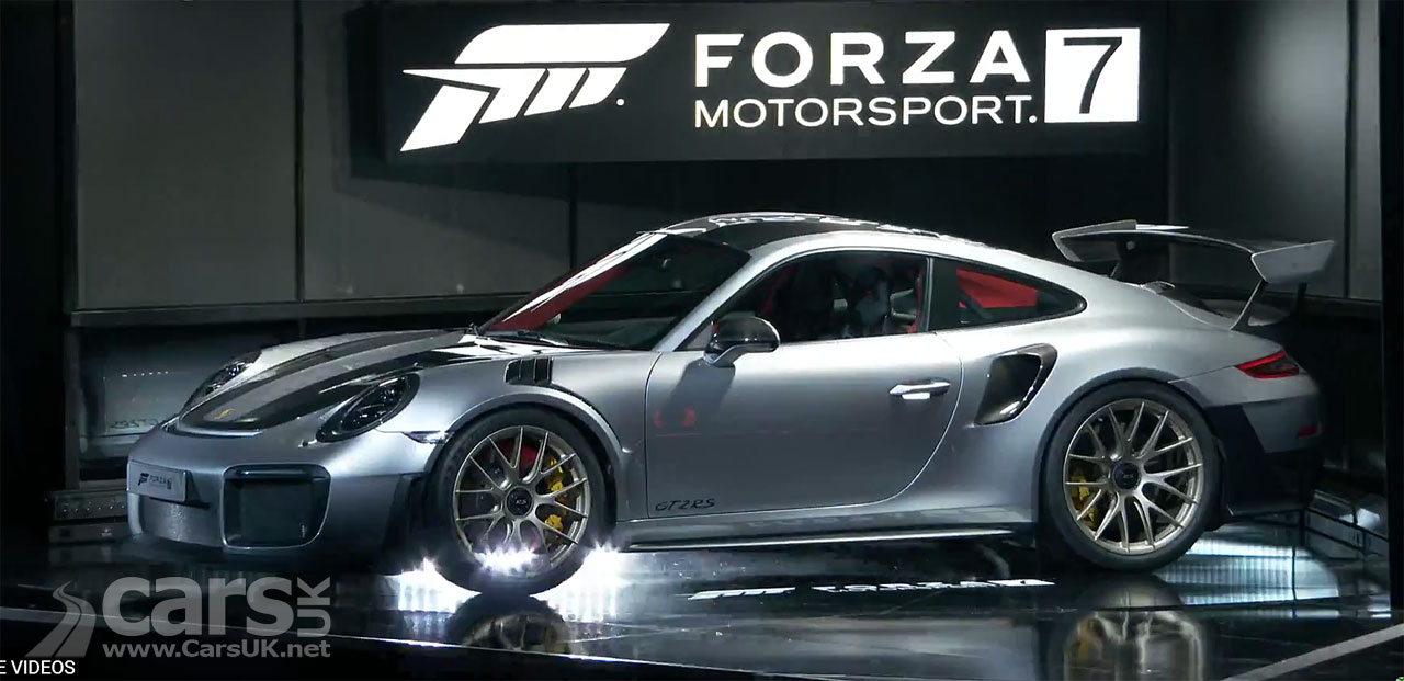 2018 porsche 911 gt2 rs revealed as porche take the new gt2 rs to forza motorsport 7 launch. Black Bedroom Furniture Sets. Home Design Ideas