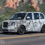 New Electric Range-Extender London Taxi heading for the Goodwood Hillclimb