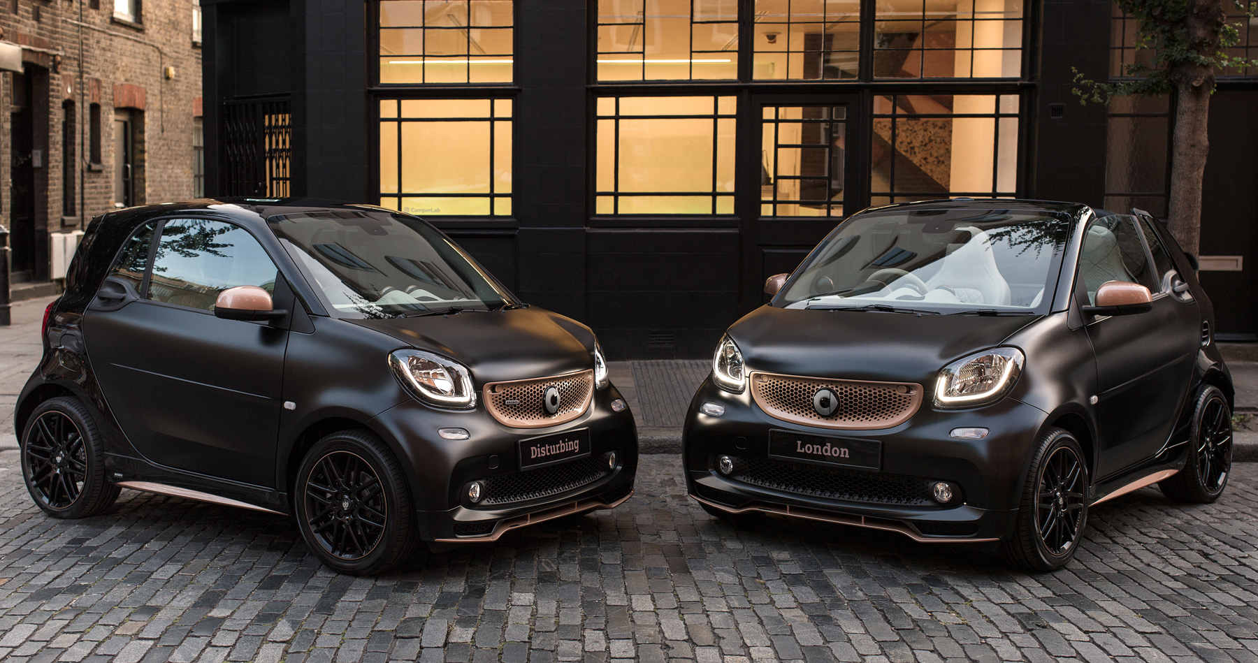 smart brabus fortwo forfour 39 disturbing london 39 special editions on sale in the uk cars uk. Black Bedroom Furniture Sets. Home Design Ideas