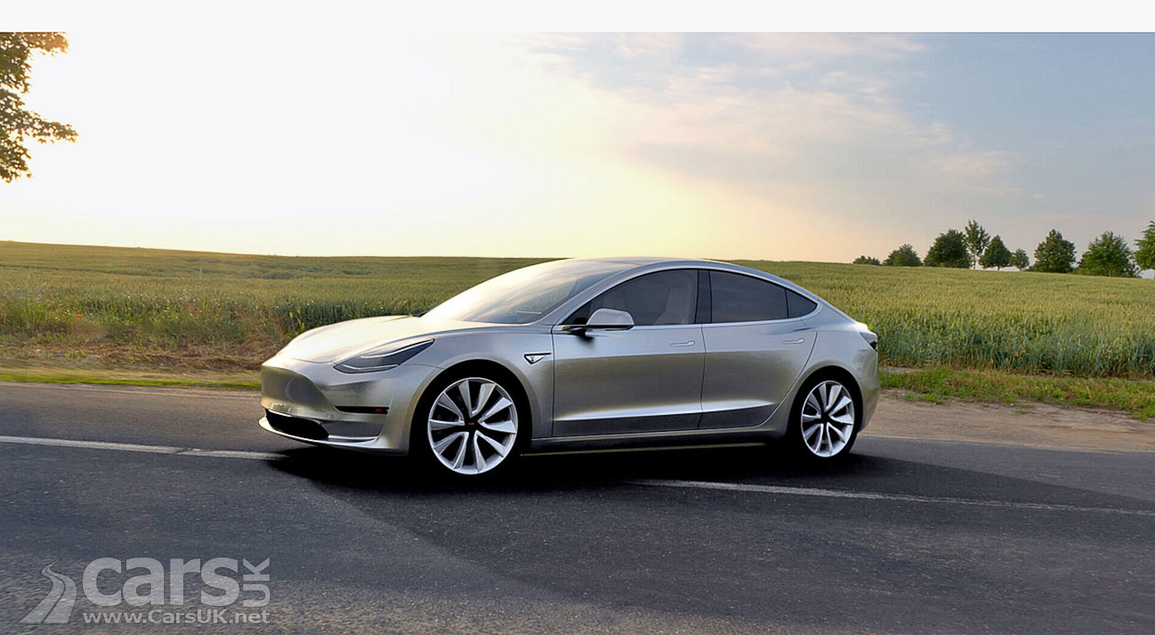tesla model 3 first production model 3 will roll out this friday cars uk. Black Bedroom Furniture Sets. Home Design Ideas