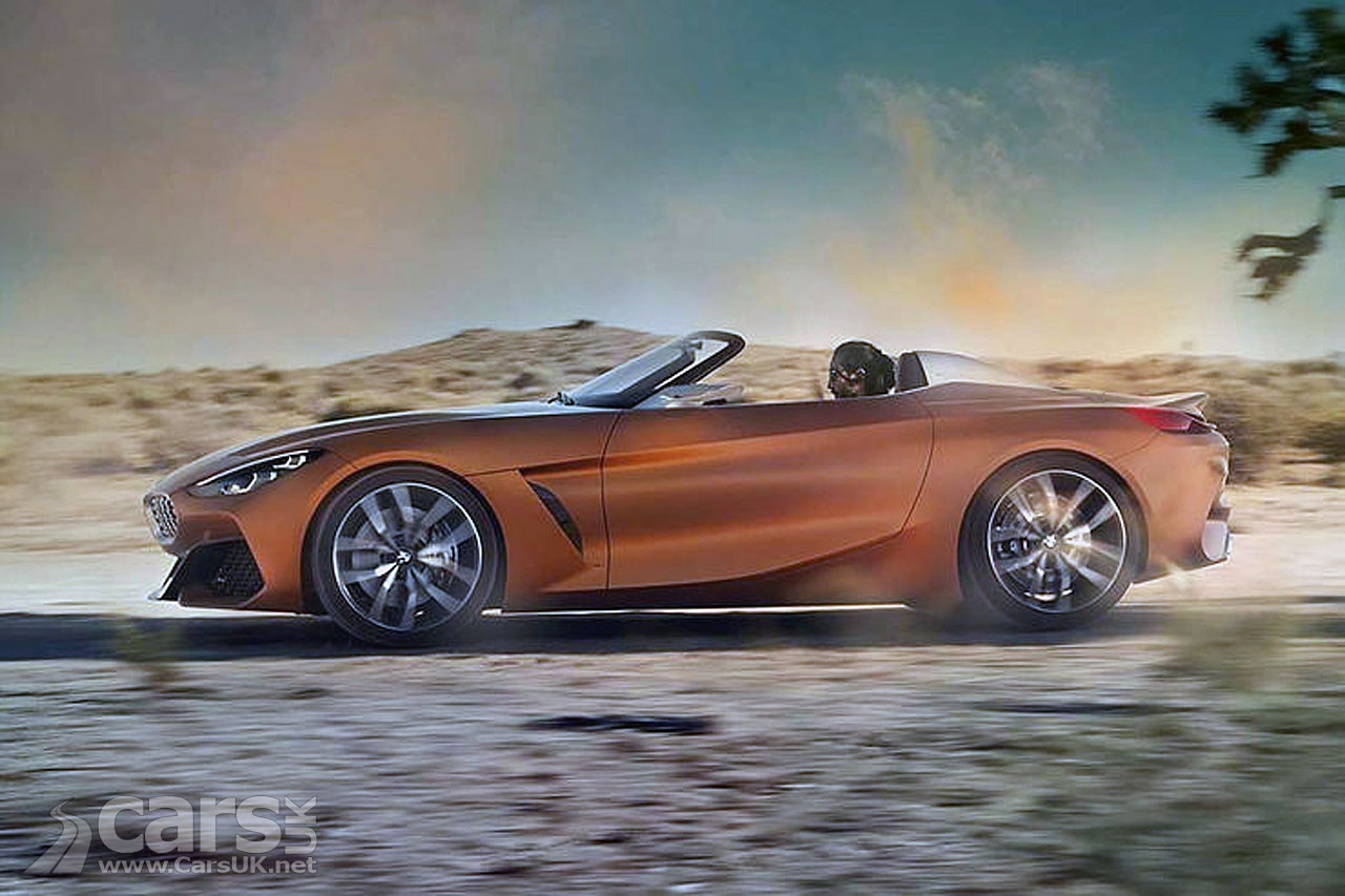 2018 bmw z4 or maybe bmw z5 leaks ahead of today 39 s pebble beach debut cars uk. Black Bedroom Furniture Sets. Home Design Ideas