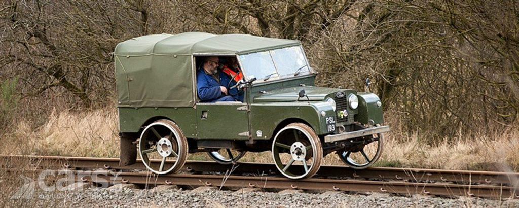 Land Rover Series I turns in to a TRAIN at Severn Valley Railway