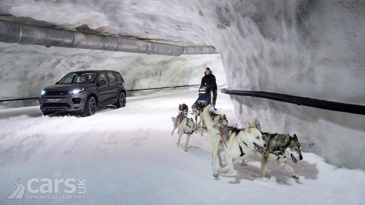 Land Rover Discovery Sport takes on a Dog Sled Team
