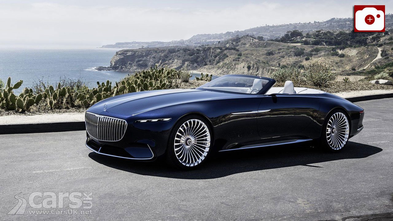 The stunning Vision Mercedes-Maybach 6 Cabriolet revealed at Pebble Beach