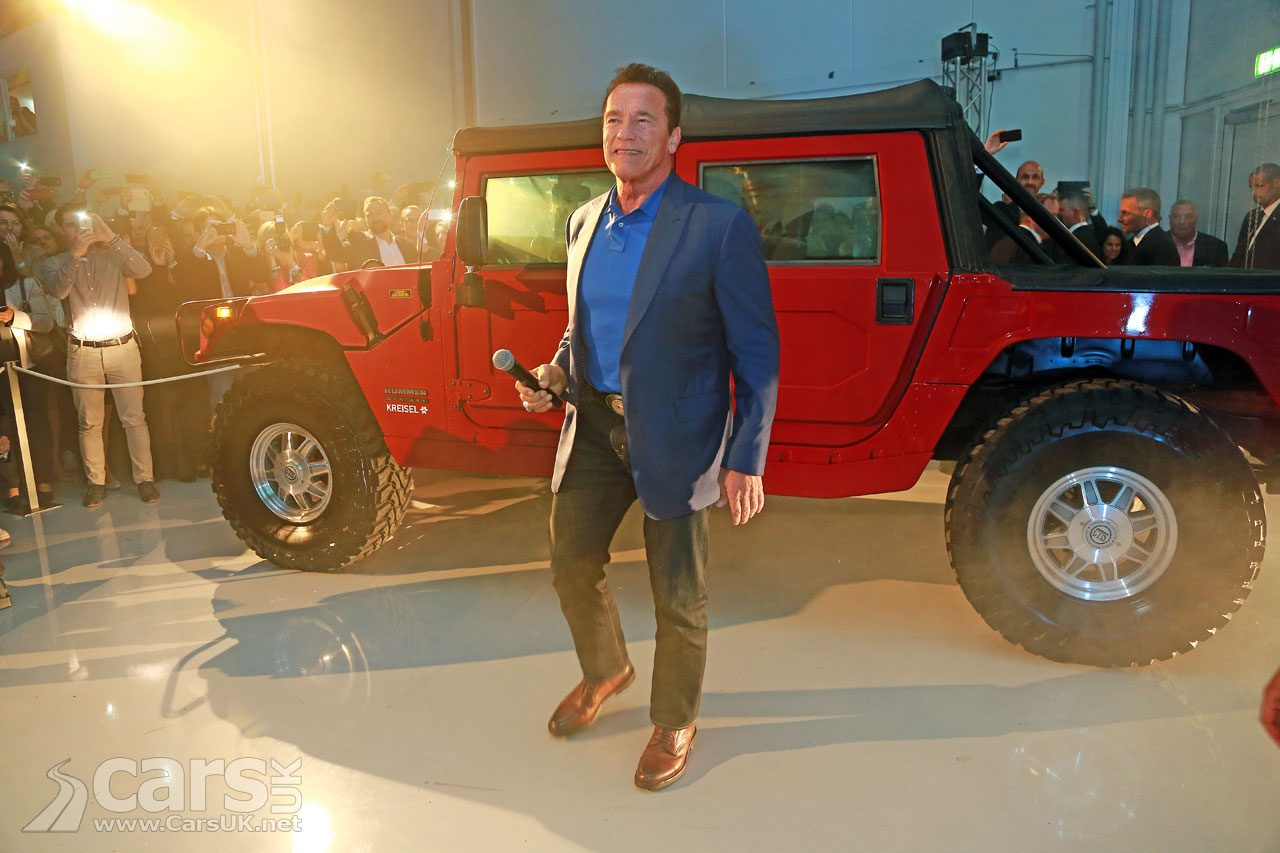Arnold Schwarzenegger reveals ELECTRIC Hummer H1 from Kreisel Electric