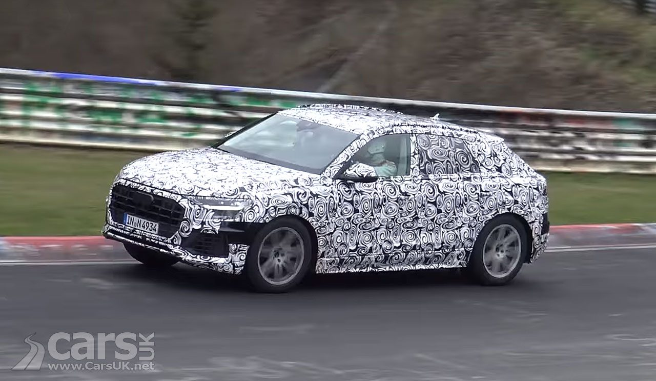 Production Audi Q8 range-topping SUV spied on video