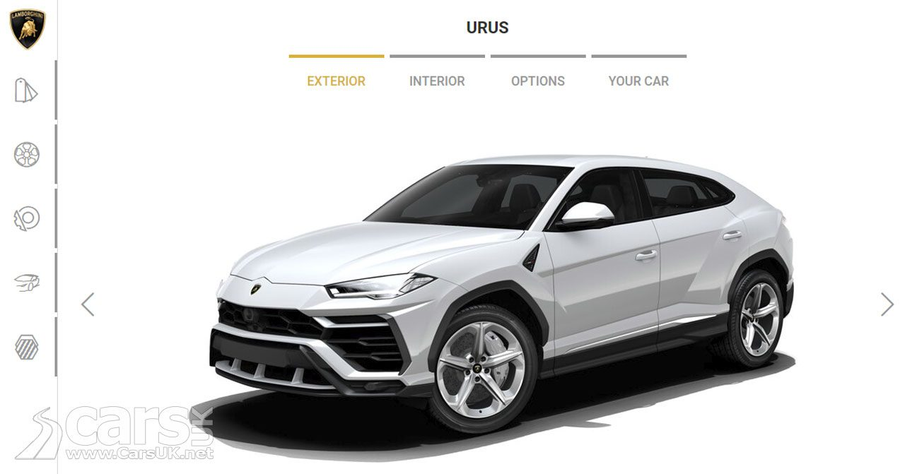 Lamborghini Urus SUV Configurator now LIVE
