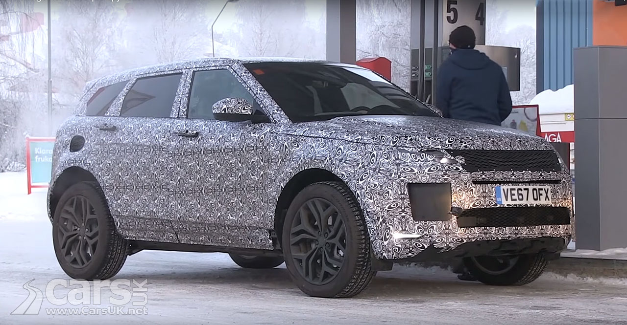 2019 range rover evoque shows its velar face in spy video cars uk. Black Bedroom Furniture Sets. Home Design Ideas