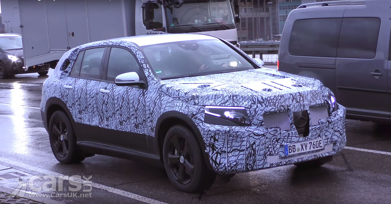 Mercedes EQ C ELECTRIC SUV spied on video