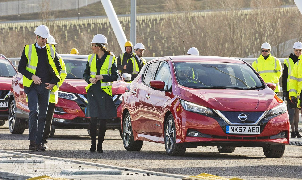 New Nissan LEAF Northern Spire Bridge Duke and Duchess of Cambridge