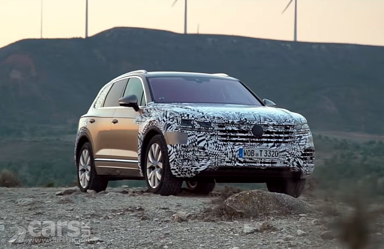 2018 Volkswagen Touareg goes in to tease overdrive