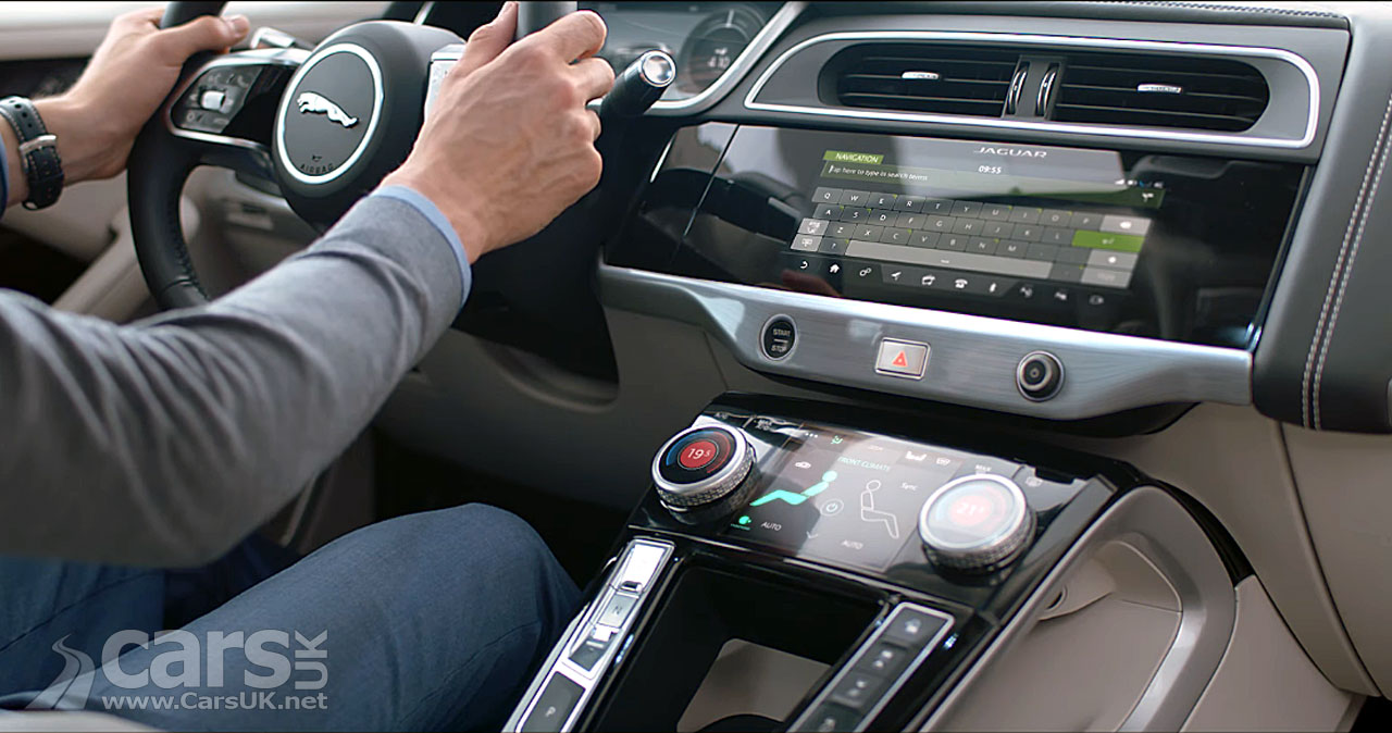 jaguar i pace in car technology highlighted on video cars uk