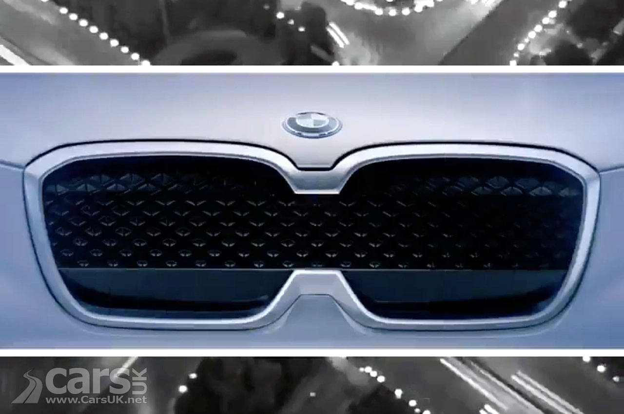 The BMW iX3 Concept teased ahead of a Beijing debut