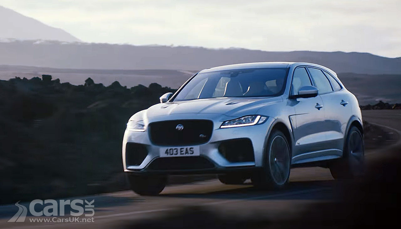 jaguar f pace svr struts its stuff on video cars uk. Black Bedroom Furniture Sets. Home Design Ideas