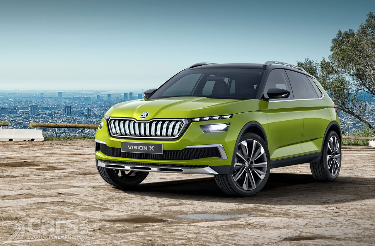 skoda vision x compact suv will arrive in production guise at geneva 2019 cars uk. Black Bedroom Furniture Sets. Home Design Ideas