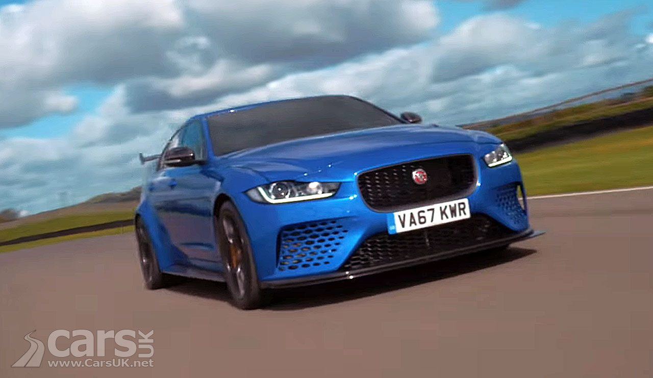 The Jaguar XE Project 8 back at Goodwood in the hands of Racing Legends