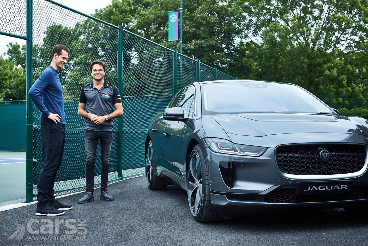 Andy Murray gets one of the FIRST Jaguar I-Pace customer cars