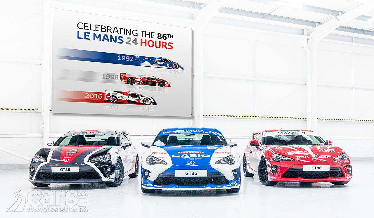 Toyota GT86 Specials celebrate the 86th 24 Hours of Le Mans