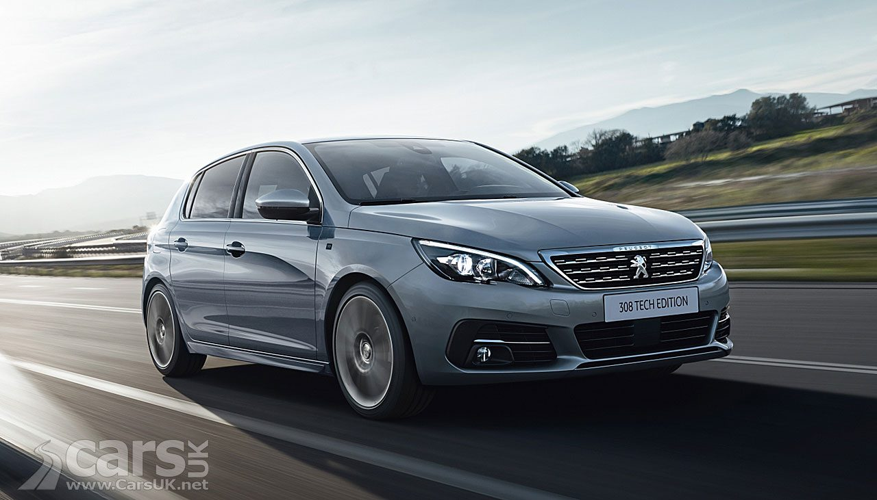 The new New Peugeot 308 Tech Edition (pictured) is available as a Hatch or Estate