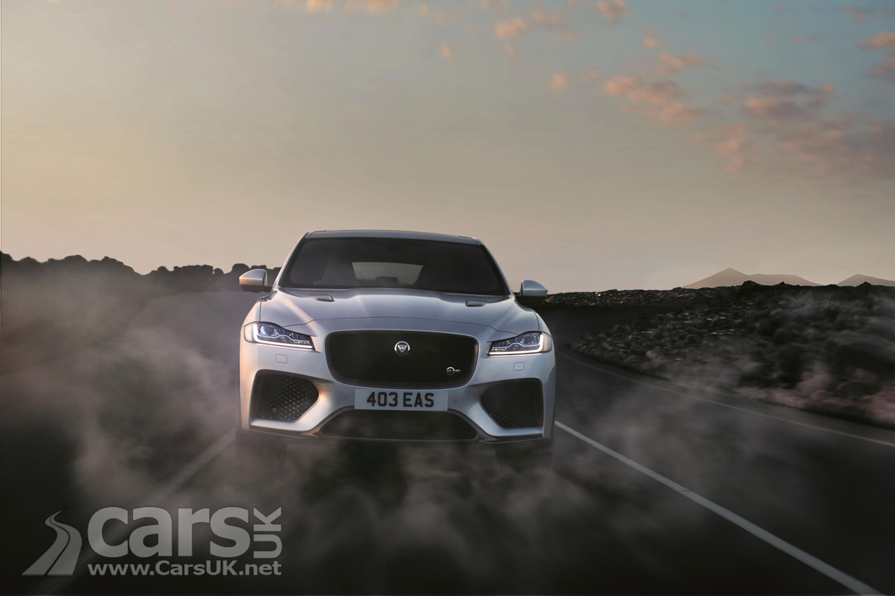 Jaguar F-Pace SVR in ACTION for the first time