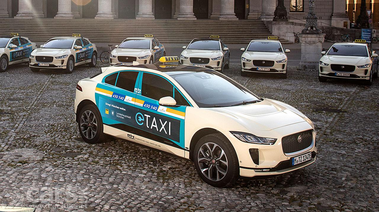 The Jaguar I-Pace Munich taxi fleet