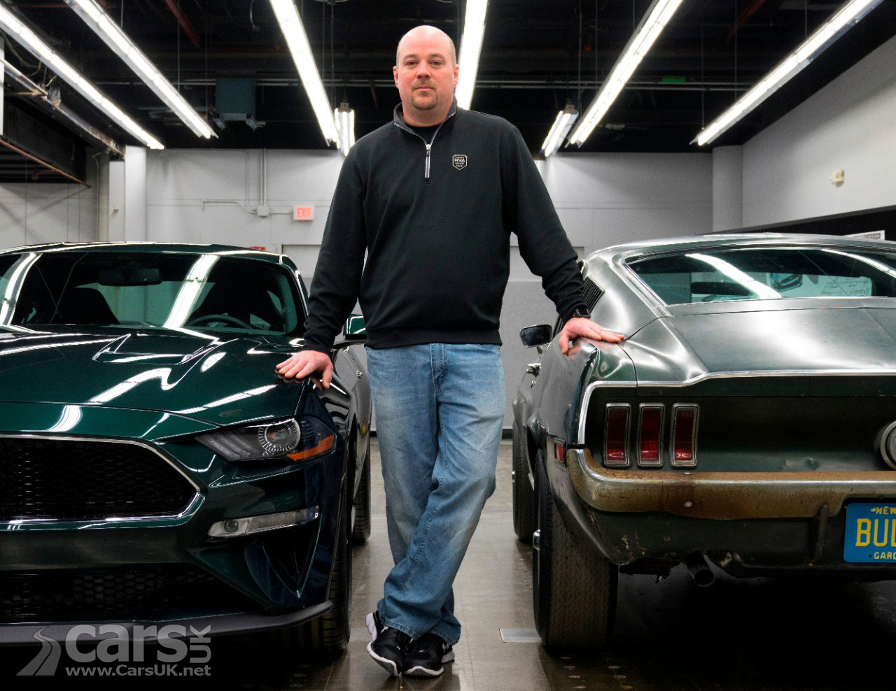The original and the new Mustang Bullitt with Sean Keirnan - off to FoS