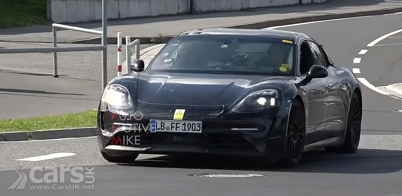 ELECTRIC Porsche Taycan caught on Video