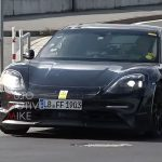electric porsche taycan caught on video still with exhaust tailpipes cars uk. Black Bedroom Furniture Sets. Home Design Ideas