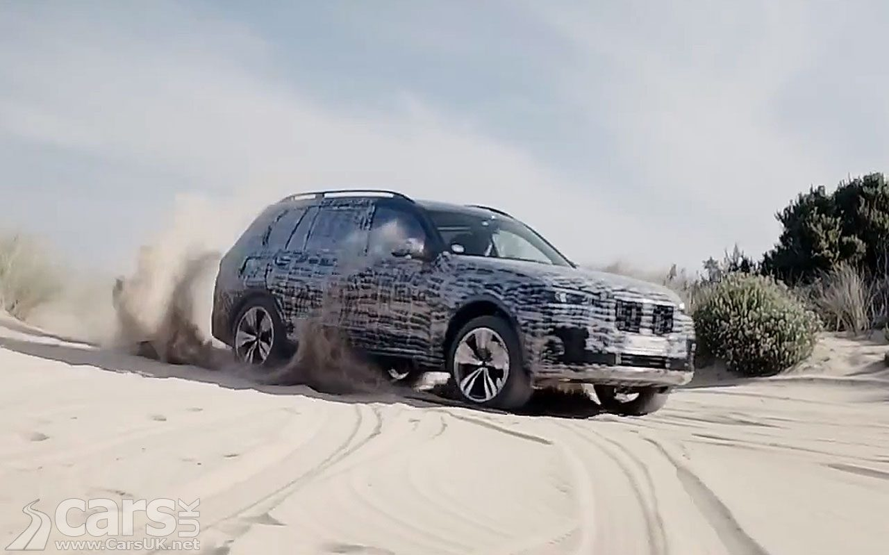 The new BMW X7 showing it can do off-road