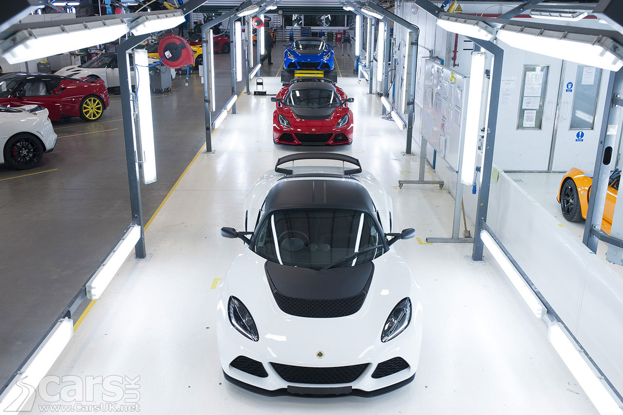 Photo of Lotus car production