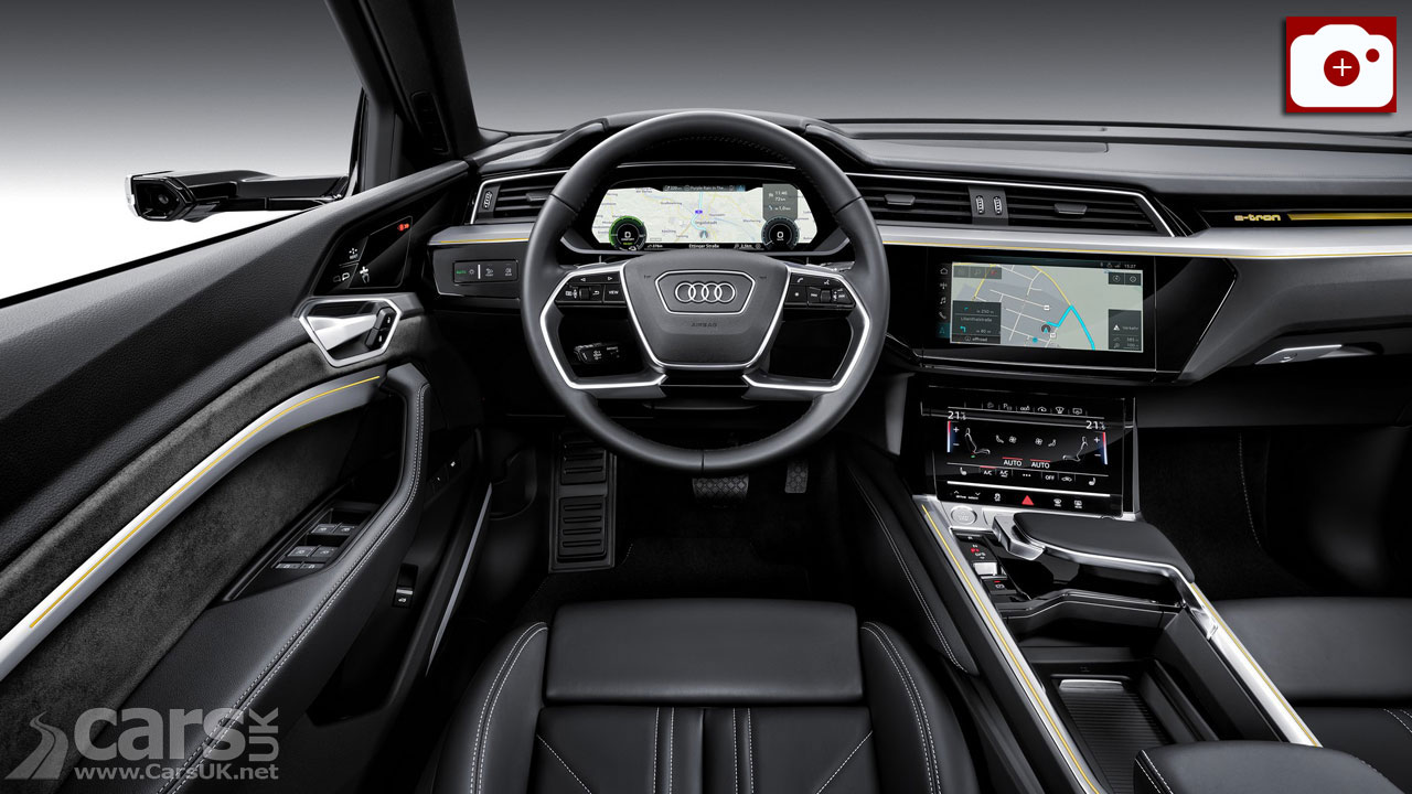 Interior of the Audi e-tron electric SUV