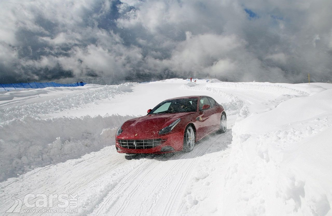 The Ferrari Purosangue is the next 'FUV' step on from the Ferrari FF (pictured)