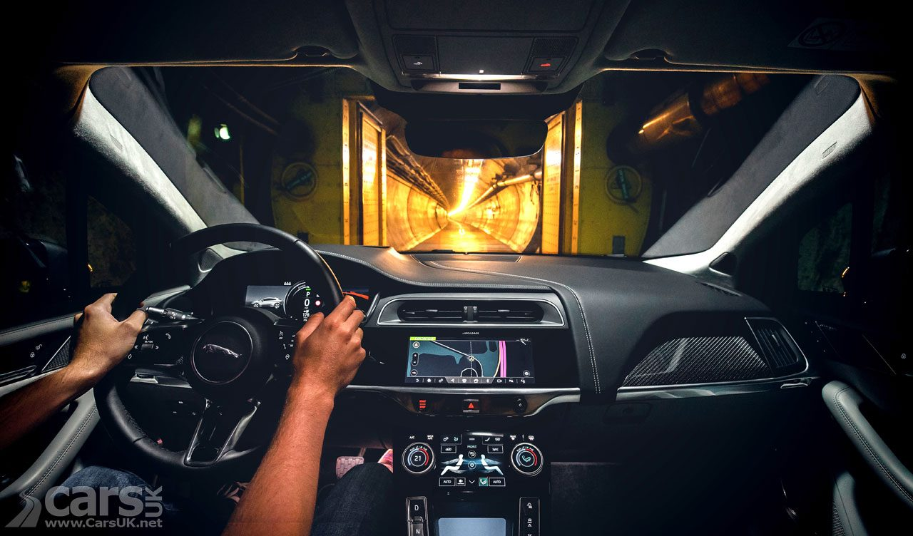 Jaguar I-Pace EV driving THROUGH the Channel Tunnel