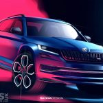 Skoda Kodiaq vRS REVEALED in 'dynamic' Design Sketch