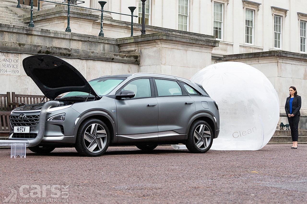 Hyundai Nexo Hydrogen Crossover CLEANS London's dirtiest roads