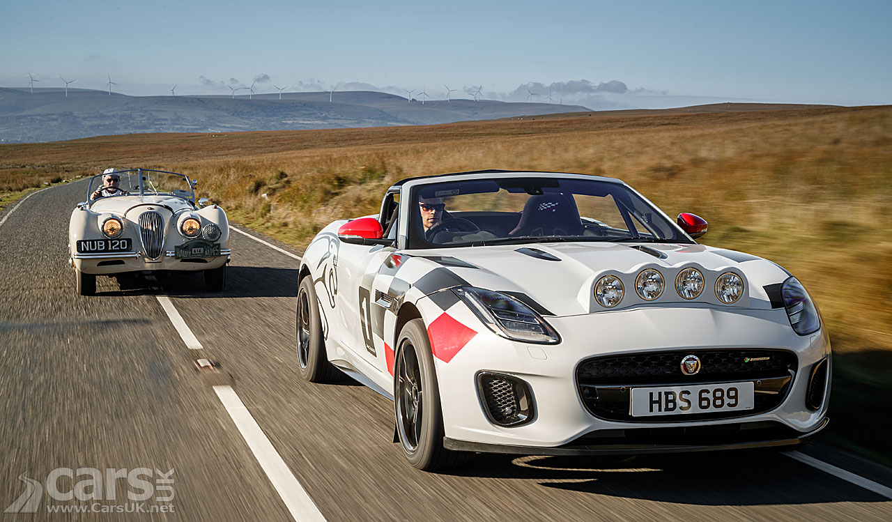 Jaguar F-Type Rally Car with Jaguar XK120 Rally Car