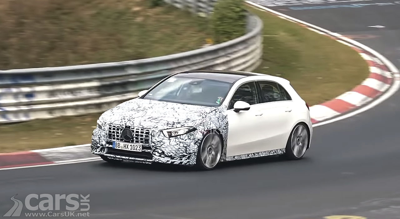 New Mercedes-AMG A 45 Spied on video