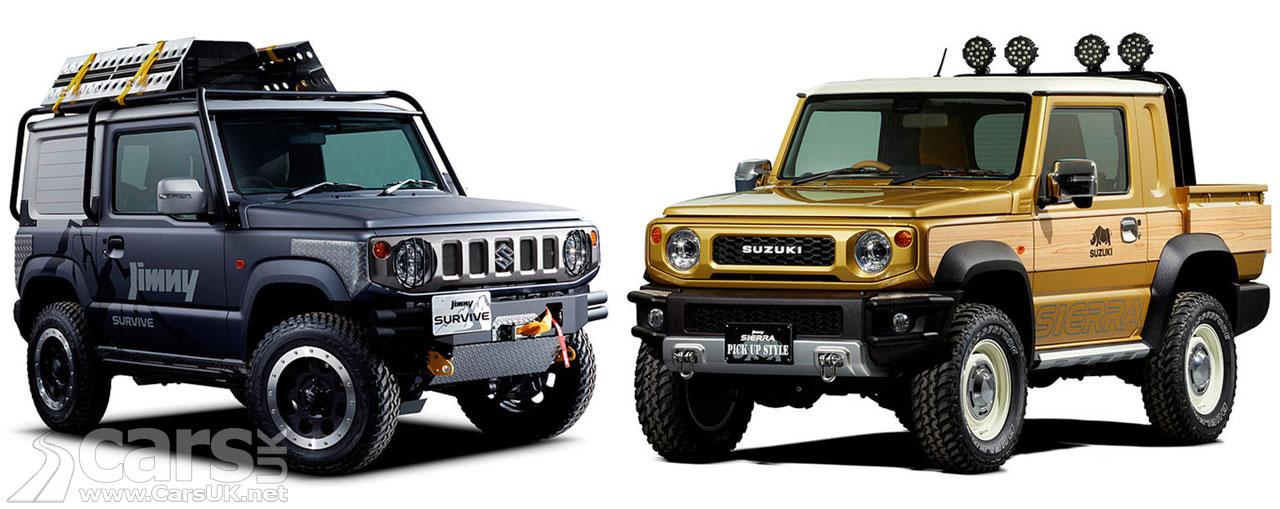 Suzuki Jimny Sierra Pickup and Jimny Survive Concepts