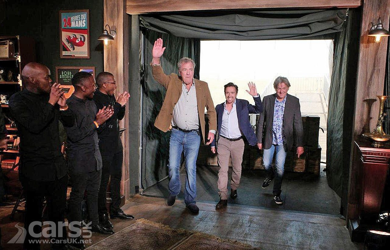 Clarkson, Hammond and May wave goodbye to The Grand Tour's current studio format.