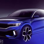 Volkswagen T-Roc R TEASE continues with a design sketch of the 'Hot' T-Roc