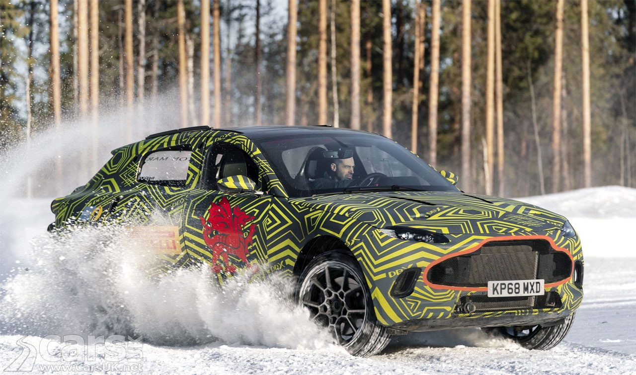 Aston Martin DBX struts its SUV chops on Swedish snow