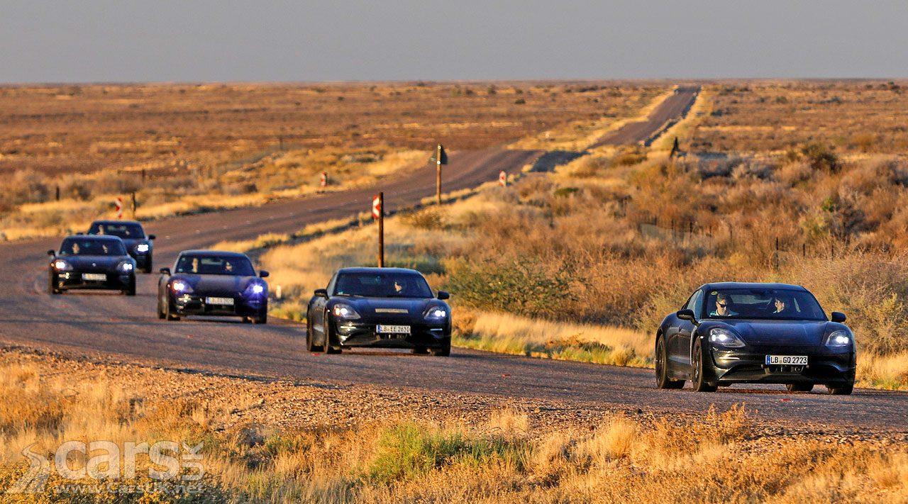 Porsche Taycan EV performance testing in South Africa