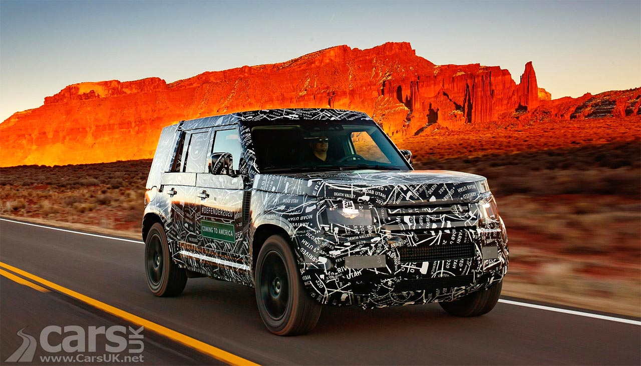 The new Land Rover Defender heads in to the sunset to be built in Slovakia